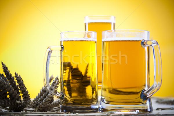 Foto stock: Cerveza · colección · vidrio · brillante · vibrante · alcohol