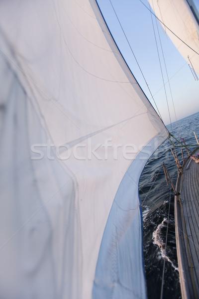 Line około zestaw żagiel niebo Zdjęcia stock © JanPietruszka