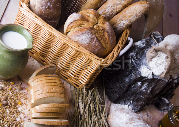 Assortment of baked goods, vivid colors, natural tone Stock photo © JanPietruszka