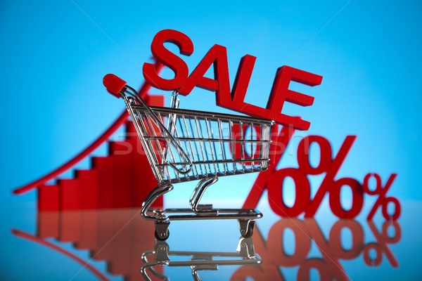 Concept discount, Shopping cart with sale Stock photo © JanPietruszka