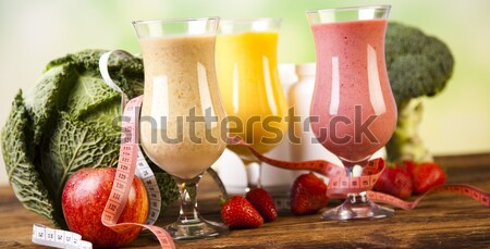 Fitness dieta vitaminas saudável fresco fruto Foto stock © JanPietruszka