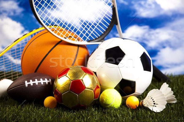 Gry sprzęt sportowy naturalnych kolorowy sportu piłka nożna Zdjęcia stock © JanPietruszka