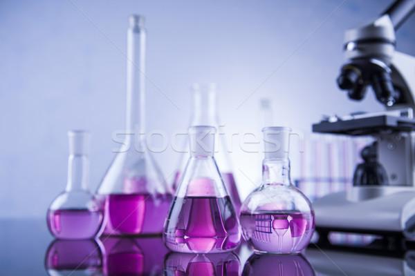Microscópio médico laboratório artigos de vidro educação medicina Foto stock © JanPietruszka