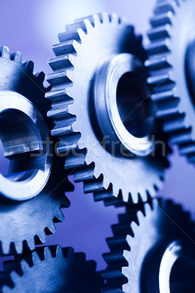 Gears, industrial mechanism, technic concept Stock photo © JanPietruszka