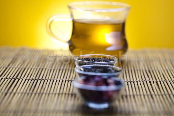 Кубок чай ярко красочный яркий цветок Сток-фото © JanPietruszka