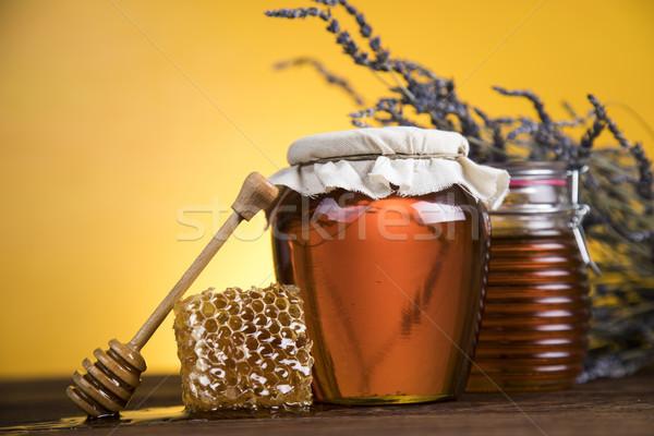 Tatlı bal tarak cam kavanoz tok Stok fotoğraf © JanPietruszka