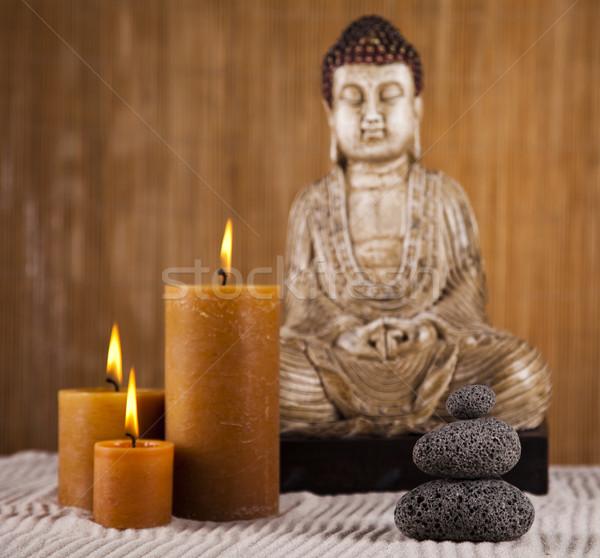 Buddha zen nap füst pihen istentisztelet Stock fotó © JanPietruszka