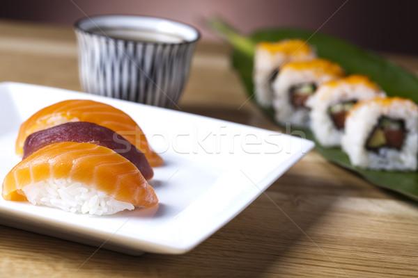 Asia żywności sushi ryb morza restauracji Zdjęcia stock © JanPietruszka