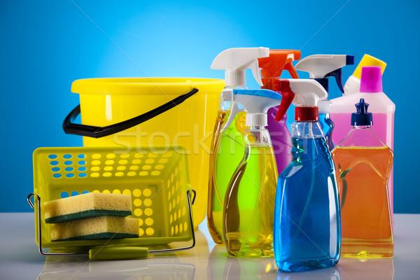 чистящие средства работу домой бутылку красный службе Сток-фото © JanPietruszka