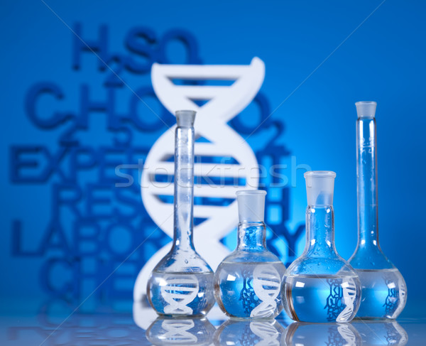 DNA molecules, Chemistry formula background Stock photo © JanPietruszka
