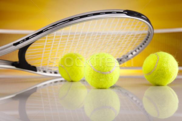 テニスラケット ボール 背景 サービス 再生 ゲーム ストックフォト © JanPietruszka