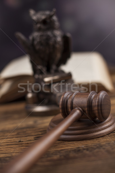 Ahşap tokmak adalet yasal hukuk çekiç Stok fotoğraf © JanPietruszka