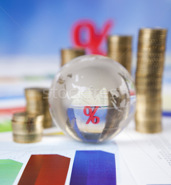 Stock photo: Sale, Percent sign, natural colorful tone