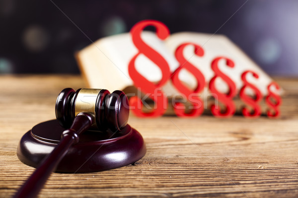 Wooden gavel barrister, justice concept, paragraph Stock photo © JanPietruszka
