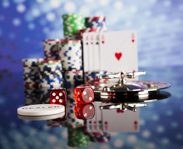 Poker chips gruppo casino successo gioco Foto d'archivio © JanPietruszka
