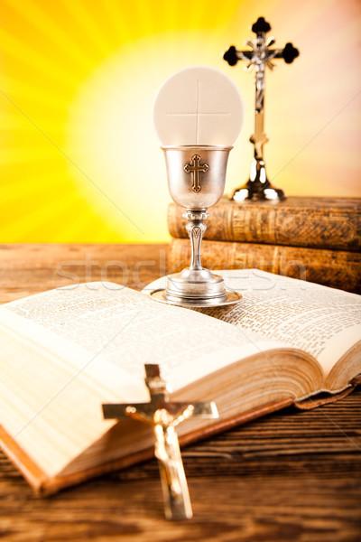 święty komunii jasne książki Jezusa kościoła Zdjęcia stock © JanPietruszka