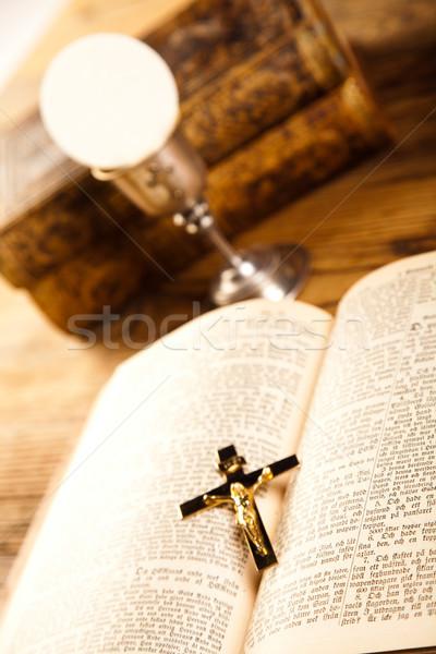Cemaat parlak kitap İsa kilise Stok fotoğraf © JanPietruszka