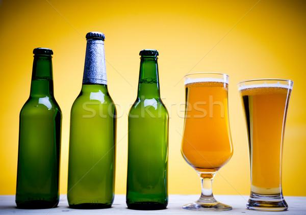Sör fényes vibráló alkohol buli asztal Stock fotó © JanPietruszka