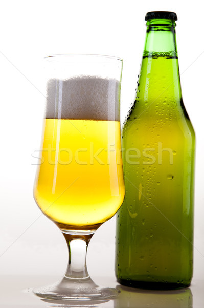 Stilleven bier heldere trillend alcohol partij Stockfoto © JanPietruszka