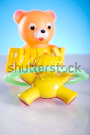 Baby blocks set, bright tone vivid composition Stock photo © JanPietruszka