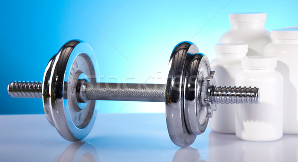 Fitness siłowni pociągu wykonywania mięśni tablicy Zdjęcia stock © JanPietruszka