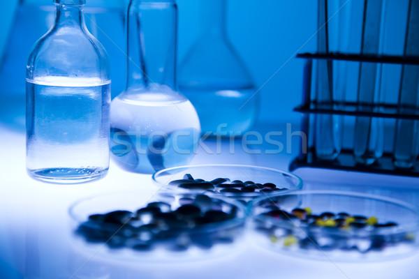 Laboratorium wyroby szklane miejsce badania naukowe środowiskowy badań Zdjęcia stock © JanPietruszka