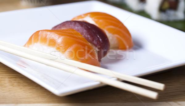 Traditional japanese food, Sushi Stock photo © JanPietruszka