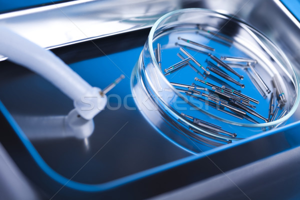 Zahnmedizin Metall Medizin Spiegel Tool professionelle Stock foto © JanPietruszka