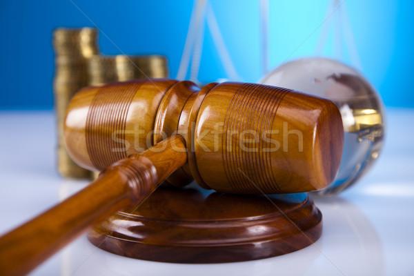 Law theme, mallet of judge, wooden gavel  Stock photo © JanPietruszka