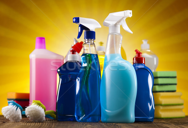 Stockfoto: Schoonmaken · uitrusting · werk · home · fles · dienst