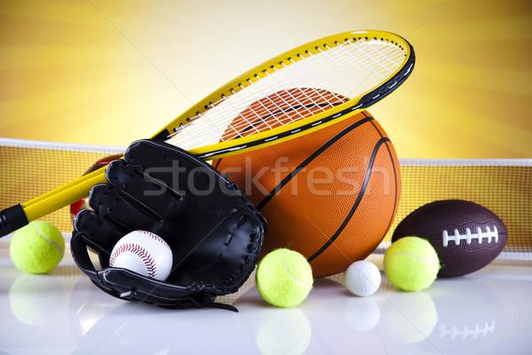 Spor malzemeleri güneş golf futbol spor tenis Stok fotoğraf © JanPietruszka