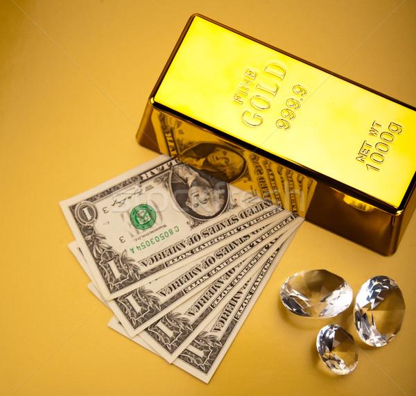 Gold background, ambient financial concept Stock photo © JanPietruszka