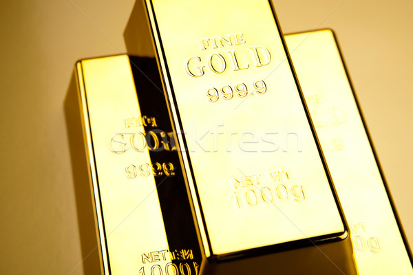 Stack of gold bar, ambient financial concept Stock photo © JanPietruszka