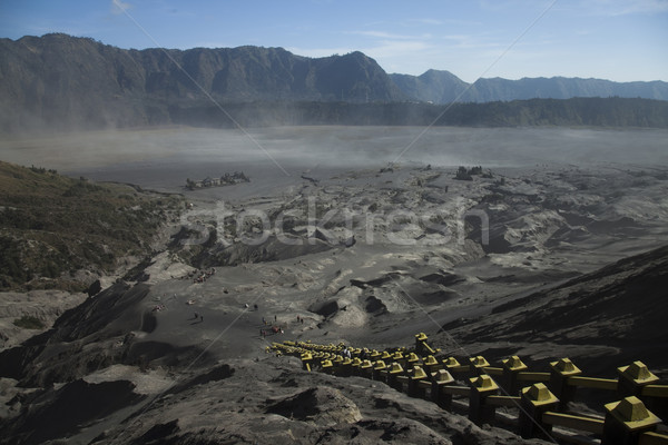 Vulcano java Indonesia luminoso colorato Foto d'archivio © JanPietruszka