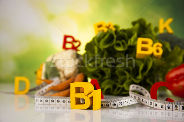 Vitamin and Fitness diet, lifestyle concept Stock photo © JanPietruszka