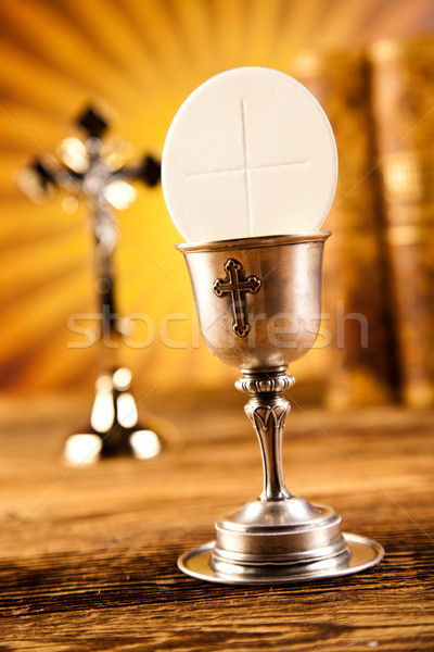 Eucharist, sacrament of communion, bright background, saturated  Stock photo © JanPietruszka