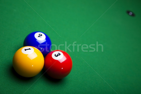 Snooker, vivid colors, natural tone Stock photo © JanPietruszka
