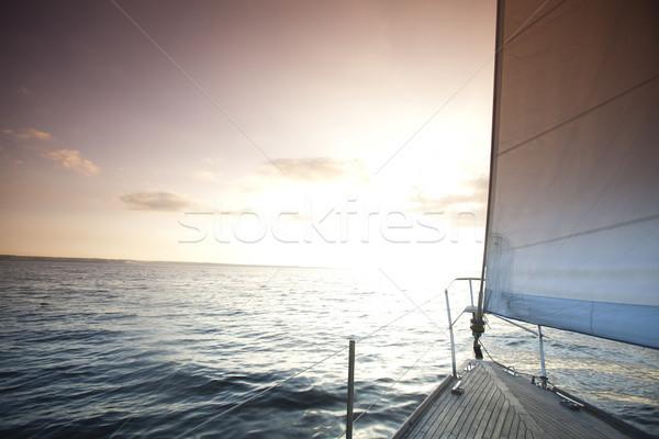 парусного открытых морем небе лет лодка Сток-фото © JanPietruszka