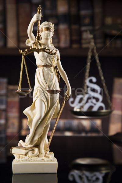 Antique statue of justice, law Stock photo © JanPietruszka