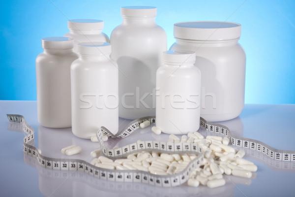 Kiegészítő sport orvosi fitnessz tornaterem gyógyszer Stock fotó © JanPietruszka