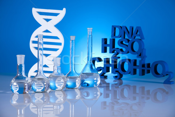 Foto d'archivio: Chimica · formula · medicina · scienza · bottiglia · laboratorio
