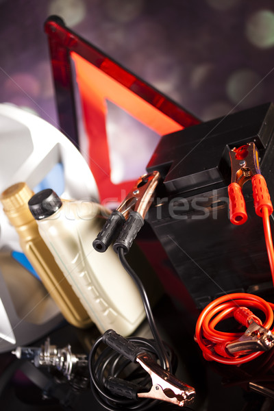 Car Accessories on vivid moto concept Stock photo © JanPietruszka