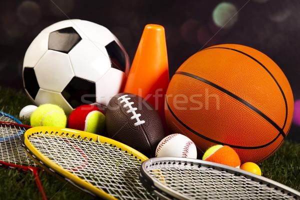 ストックフォト: スポーツ · サッカー · 夏 · オレンジ · テニス