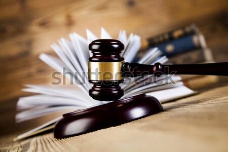 молоток правосудия пункт древесины адвокат Сток-фото © JanPietruszka