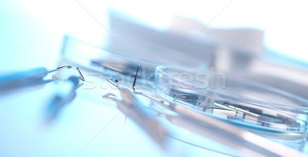Close-up Dental Instruments Stock photo © JanPietruszka