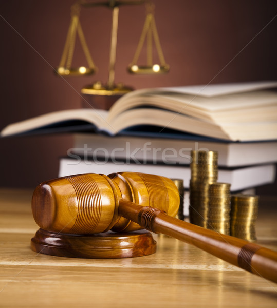 Justice Scale and Gavel Stock photo © JanPietruszka