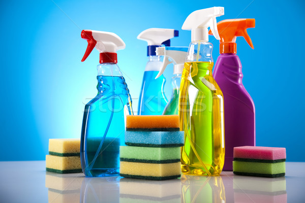 группа очистки работу домой бутылку красный Сток-фото © JanPietruszka