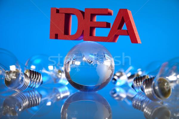 ötlet lámpa erő elektromos villanykörte villanykörte Stock fotó © JanPietruszka