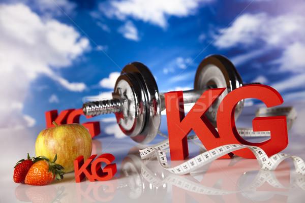Frische Lebensmittel Maßnahme Ernährung Essen Fitness Obst Stock foto © JanPietruszka
