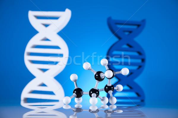 ADN moléculas química fórmula agua diseno Foto stock © JanPietruszka